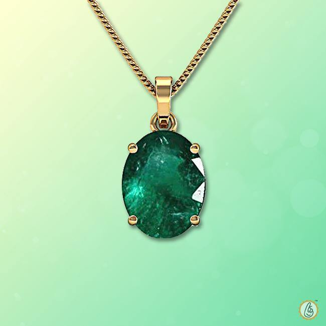 Emerald oval-dark-green-pendant BTE119PSM