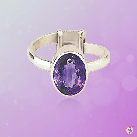 Amethyst Kathaila silver-adjustable-ring BTE121RSM
