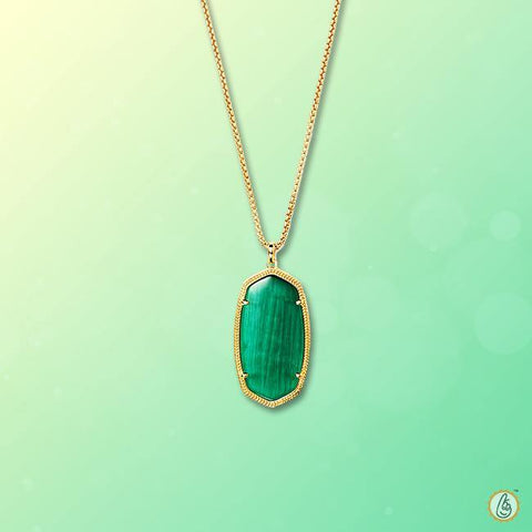 Emerald oval-dark-green-pendant BTE123PSM