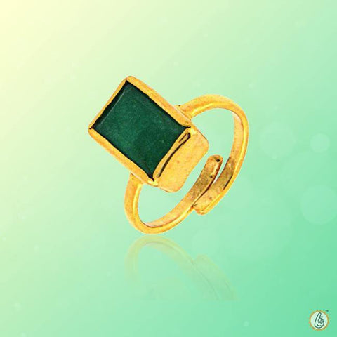 Emerald rectangle-intense dark-green-ring BTE126RSM