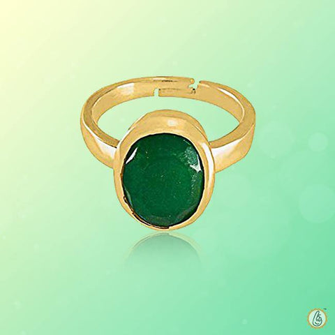 Emerald oval-medium dark-green-ring BTE128RSM