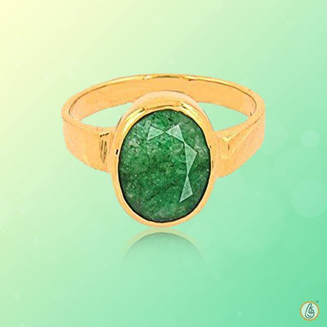 Emerald oval-yellow-green-ring BTE129RSM - BrahmatellsStore