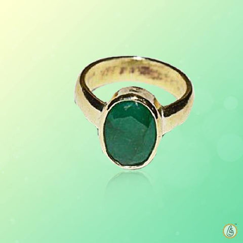 Emerald oval-intense dark-green-ring BTE130RSM