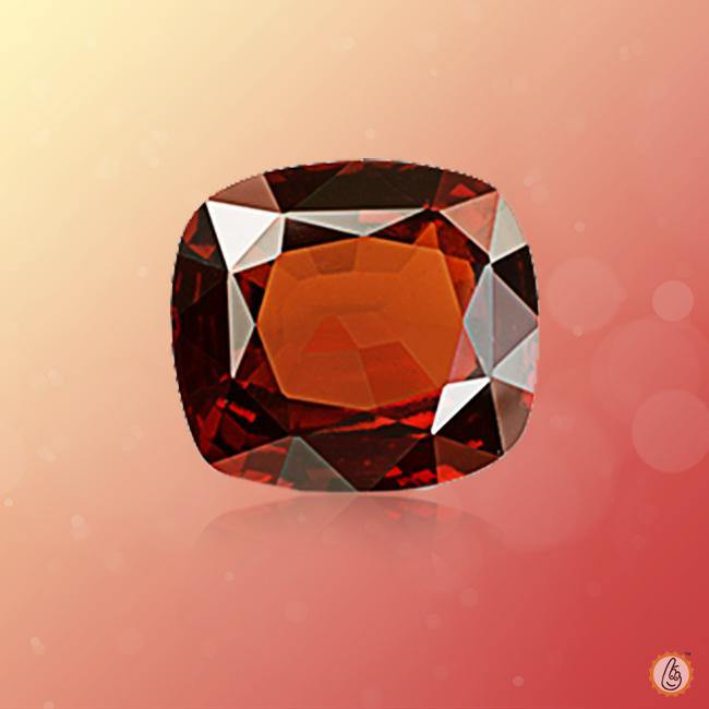 Hessonite Gomed dark-brown-cushion BTHG127GSM - BrahmatellsStore