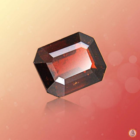 Hessonite Gomed radiant-rectangle BTHG128GSM