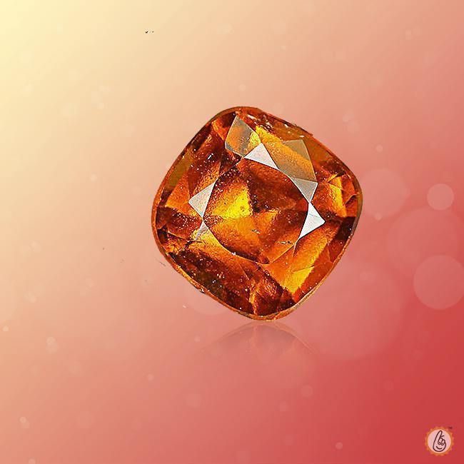 Hessonite Gomed Cushion-honey-brown BTHG129GSM - BrahmatellsStore