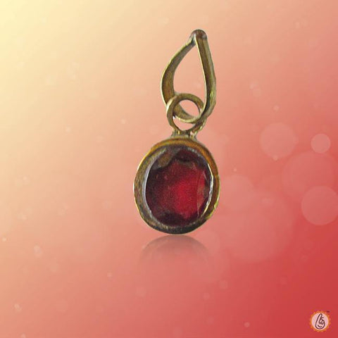 Hessonite Gomed oval-pendant BTHG131PSM
