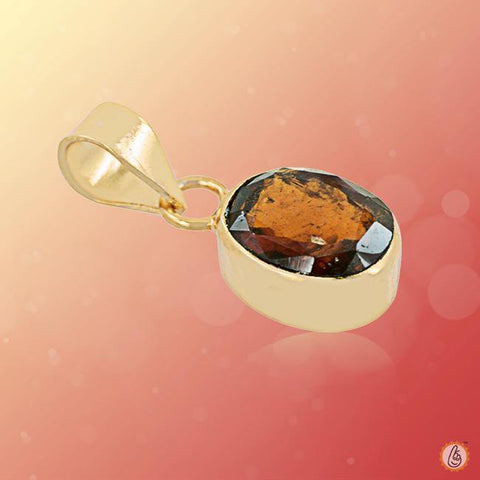 Hessonite Gomed oval-pendant BTHG135PSM