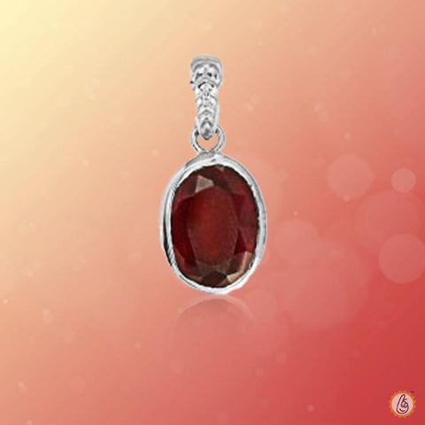 Hessonite Gomed oval-pendant-silver BTHG136PSM