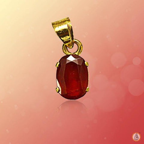 Hessonite Gomed oval-pendant-gold BTHG137PSM