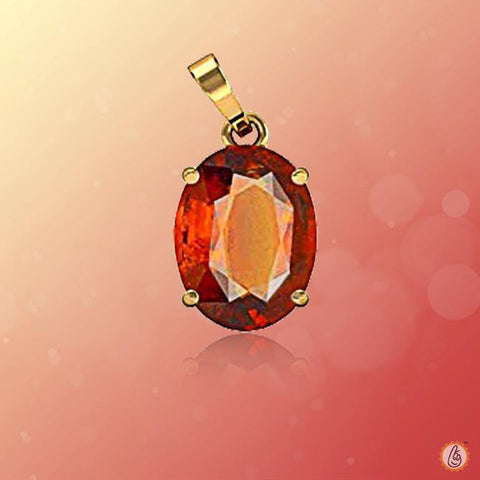 Hessonite Gomed honey-brown-pendant BTHG138PSM