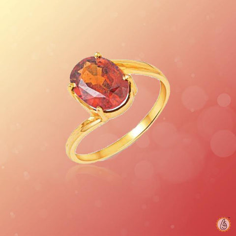Hessonite Gomed honey-brown-ring BTHG140RSM