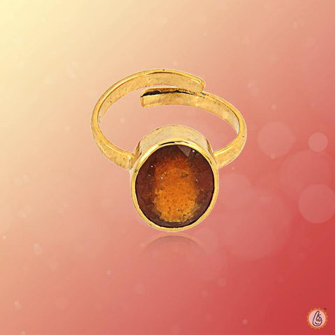 Hessonite Gomed honey-brown-adjustable-ring BTHG142RSM