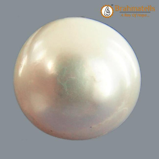 Pearl (Moti)(Full Round Shape – South Sea) - BrahmatellsStore