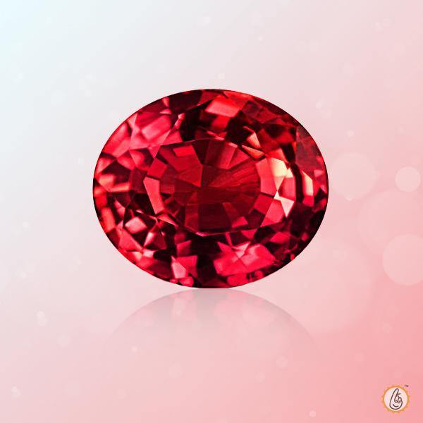 Ruby Manak oval-apple-red BTR125GSM - BrahmatellsStore