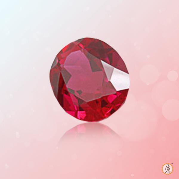 Ruby Manak wine-red-oval BTR129GSM - BrahmatellsStore