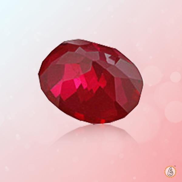 Ruby Manak oval-blood-red BTR130GSM - BrahmatellsStore