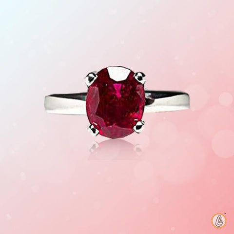 Ruby Manak oval-verlber-red-silver-ring BTR139RSM