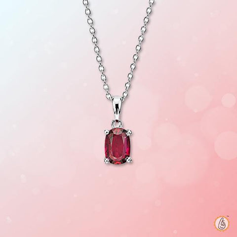 Ruby Manak oval-cushion-pendant BTR141PSM