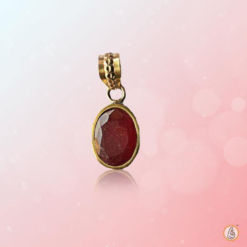 Ruby Manak oval-wine-red-pendant BTR144PSM