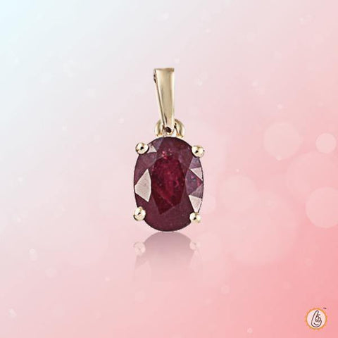Ruby Manak wine-red-oval-pendant BTR146PSM