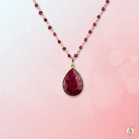 Ruby Manak pear-drop-natural-pendant BTR147PSM
