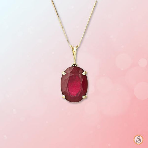 Ruby Manak crimson-red-oval-pendant BTR148PSM