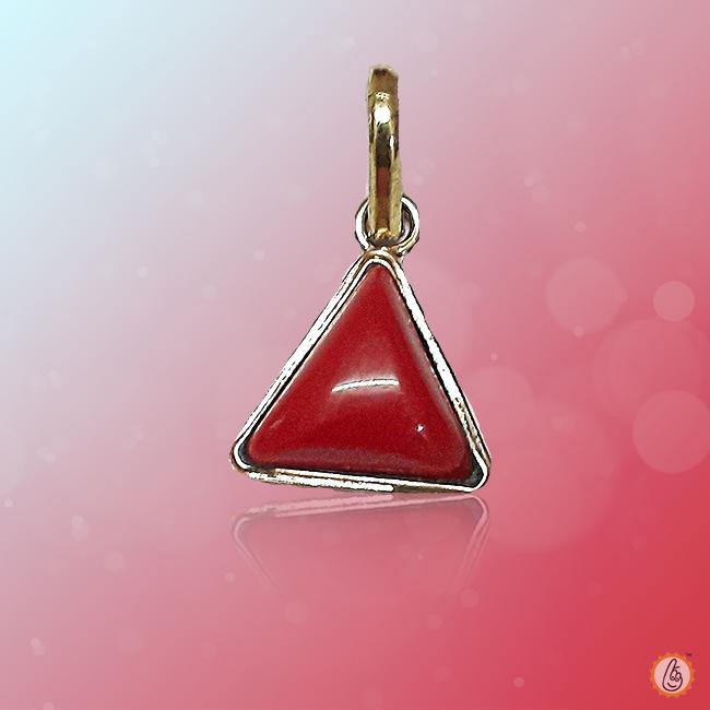 Red Coral triangle-crimson-red-pendant BTRC118PSM