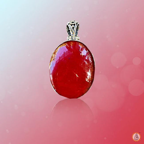 Red Coral oval-light-red-pendant BTRC127PSM