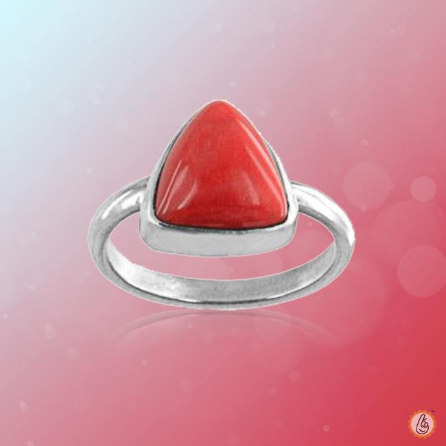 Red Coral triangle-cherry-red-ring BTRC137RSM - BrahmatellsStore