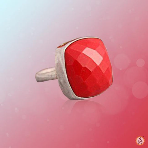 Red Coral square-crimson-red-ring BTRC141RSM