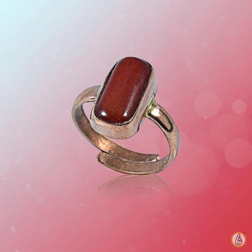 Red Coral capsule-maroon-red-ring BTRC142RSM - BrahmatellsStore