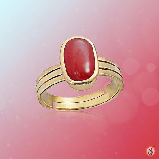 Red Coral capsule-cherry-red-ring BTRC143RSM - BrahmatellsStore