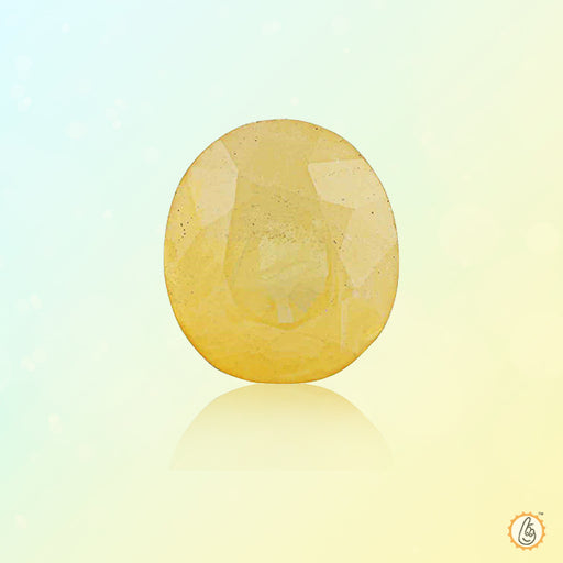 Yellow sapphire soft-Oval BTYS102GSM - BrahmatellsStore