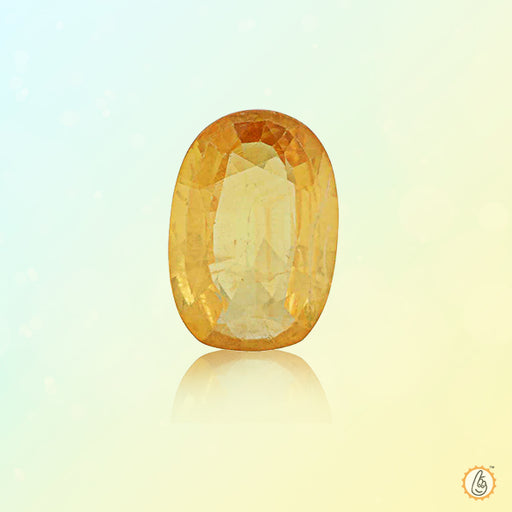 Yellow sapphire oval BTYS103GSM - BrahmatellsStore