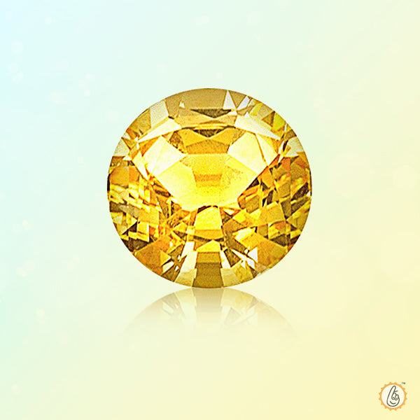 Yellow sapphire round BTYS108GSM