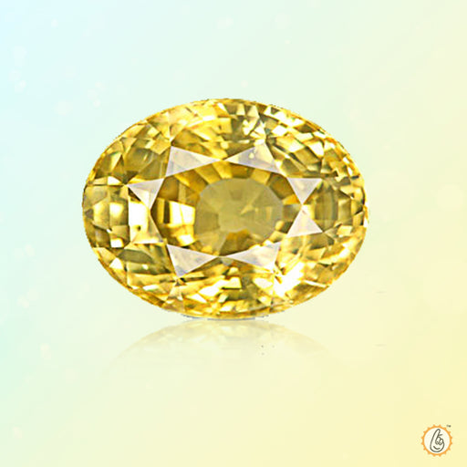 Yellow sapphire oval BTYS110GSM - BrahmatellsStore