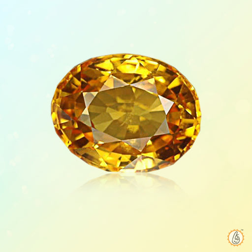 Yellow sapphire soft-oval BTYS113GSM - BrahmatellsStore