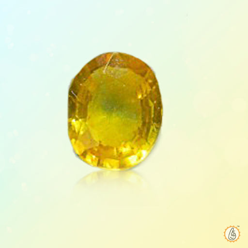 Yellow sapphire lime-yellow BTYS116GSM - BrahmatellsStore