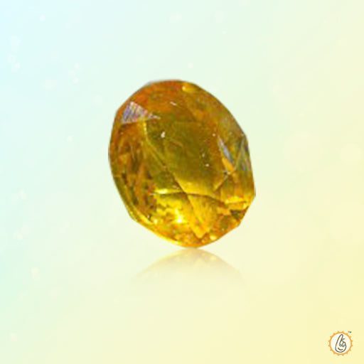 Yellow sapphire soft-oval BTYS118GSM - BrahmatellsStore
