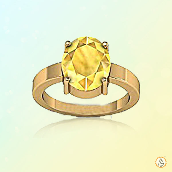 Yellow sapphire lemon-yellow-ring BTYS123RSM