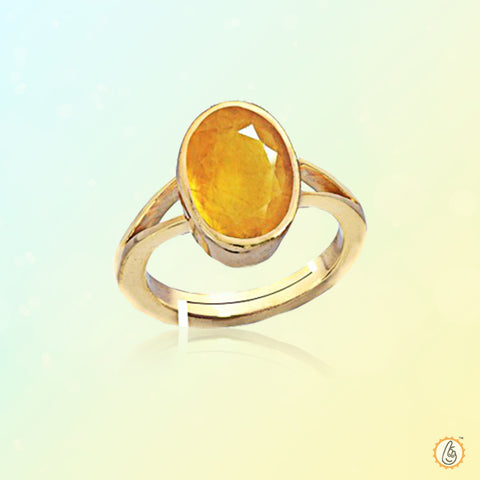 Yellow sapphire oval-gold-ring BTYS126RSM