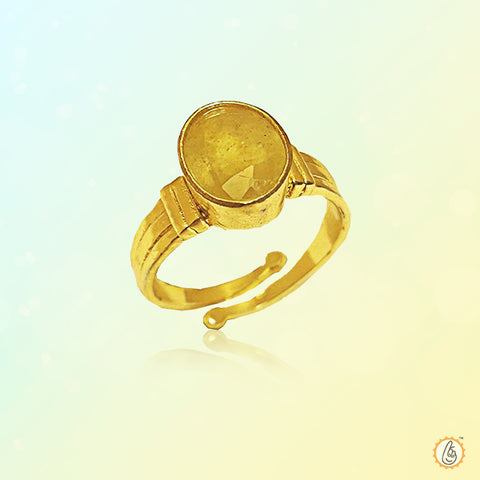 Yellow sapphire mustard-gold-ring BTYS127RSM
