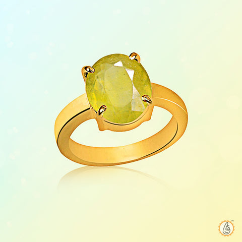 Yellow sapphire oval-gold-ring BTYS128RSM