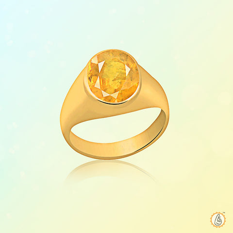 Yellow sapphire round-ring BTYS129RSM
