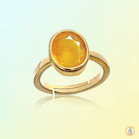 Yellow sapphire soft-oval-honey-yellow Ring BTYS131RSM