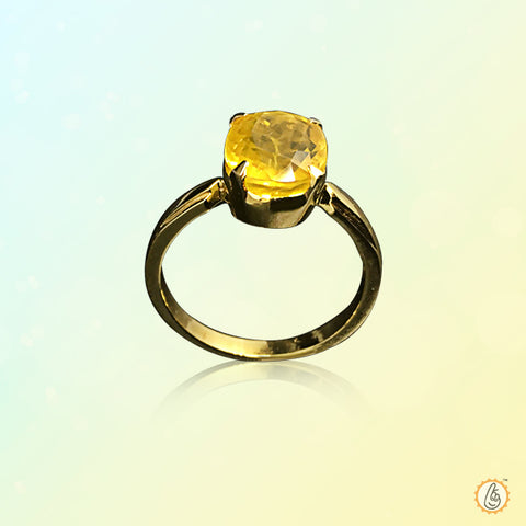 Yellow sapphire soft-square Ring BTYS132RSM