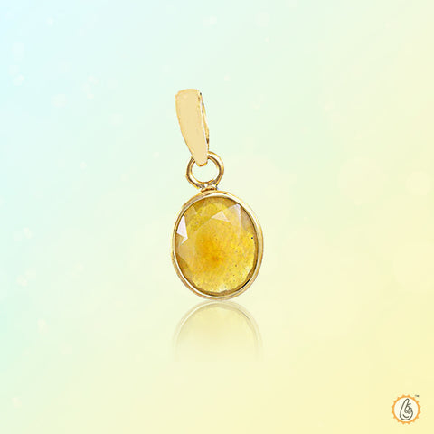 Yellow sapphire Light-yellow-Pendant BTYS133PSM