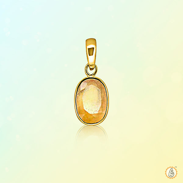 Yellow sapphire gold-yellow-Pendant BTYS134PSM