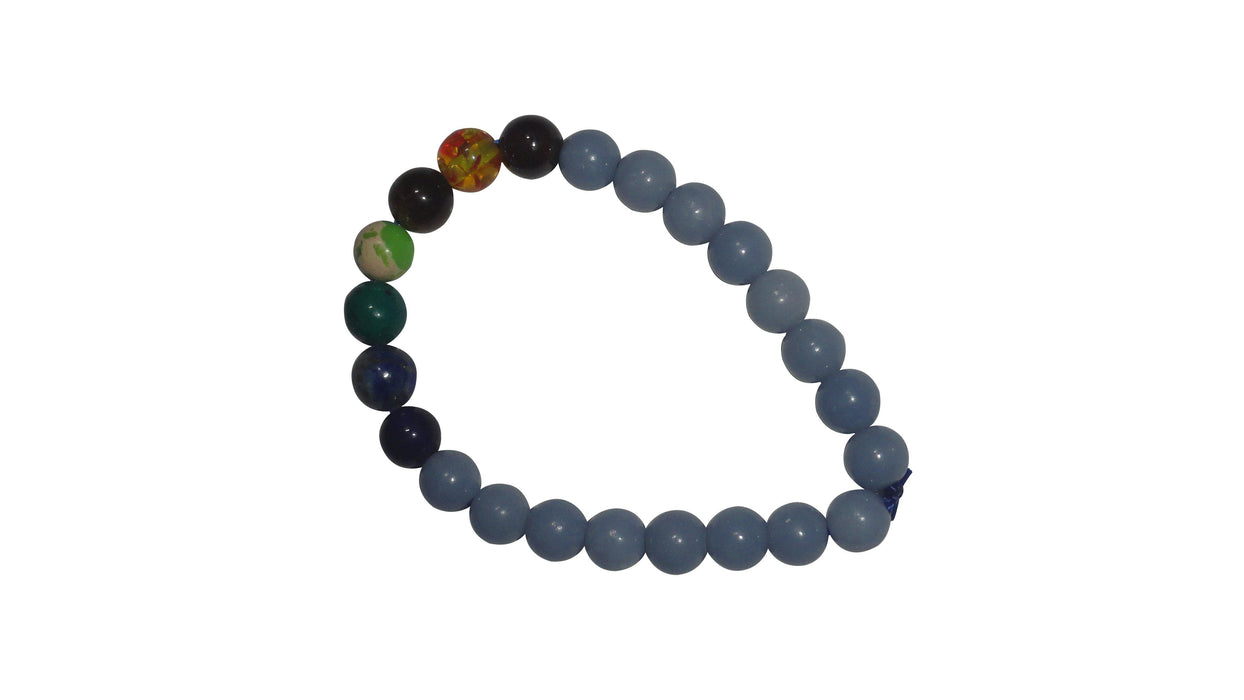 Angelite Bracelet With 7 Chakra - BrahmatellsStore